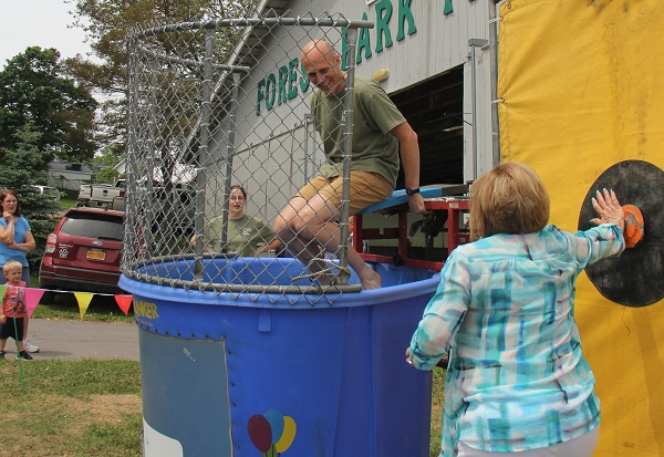 Auction 2018 _  Mike Judd in dunk tank